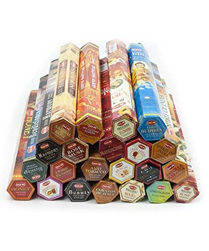 Varillas de incienso, 22 diferentes variedades:
