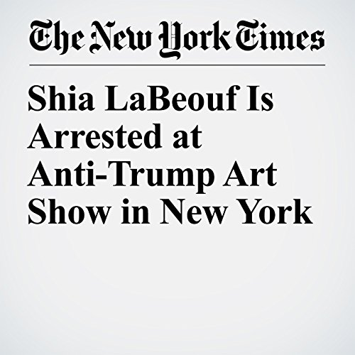 Shia LaBeouf Is Arrested at Anti-Trump Art Show in New York copertina