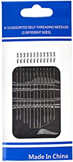 Ranoff 12pc Thick Big Eye Sewing Self-Threading Needles Embroidery Hand Sewing Kit Set