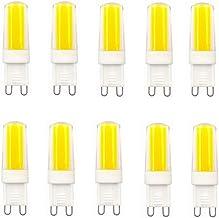 LED Lamp 10-Pack,G9 Ceramic Base LED Light Bulbs,3W (30W Halogen Equivalent), 260LM, 3000K/6000K G9 Base, AC100-130V G9 Di...