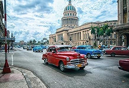 BlechschilderWelt Plaque en t/ôle Cuba Jaune Voiture Havana Ancienne Voiture