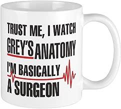 CafePress Greys Anatomy Trust Me Mugs Unique Coffee Mug, Coffee Cup
