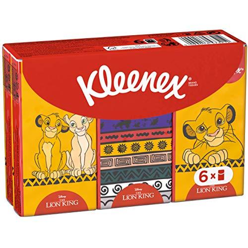 Kleenex Kids Disney Taschentücher für Kinder, König der Löwen Design, 6 x 9 Tücher, 1er Pack(1 x 144 g)