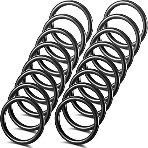 Bumper Fender Fasteners O Rings Black Bumper Fasteners Washers Replacement Rubber Bands O Rings Bumper Quick Release Fasteners Washers for Car Bumpers (16)