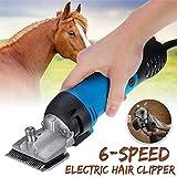 GRX-ADRE Pferdeschermaschine Schermaschine, regulables Pferdeschermaschine Haarschneidemaschine eléctricos caballos tijeras, accesorios para PferdededešPferde cuidado cerdo vaca, azul