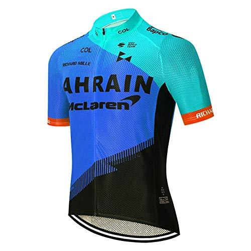 STEPANZU Maillot Cyclisme Homme Manches Courtes Maillot VTT Tenue Vélo Jersey Respirant Séchage Rapide Vetement Cyclisme Homme Ete