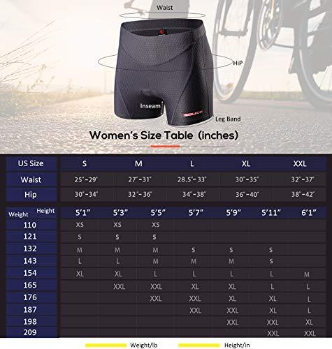 Souke Sports Damen Fahrrad Unterwäsche 4D Gepolstert Atmungsaktiv Fahrrad Unterwäsche Short - 4