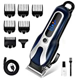 HairClippersforMen Cordless- LONOVE Professional Hair Trimmer Men's Hair Clipper For Hair Cutting Electric Barber Clippers Fade Buzzer Haircut Machine Beard Shaver Men's Grooming Kits with Guard