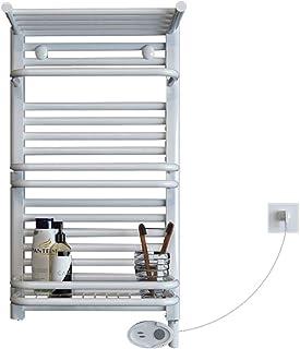 Hesily Radiador Toallero Antracita Radiador Toallero Electrico, Toallero EléCtrico TermostáTico Elemento Calentador Calentador Blanco Montaje En Pared Radiador 400W