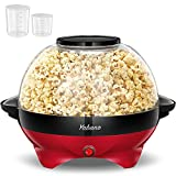 Yabano Popcorn Maker, 5L Popcorn Popper Machine, Nonstick Plate, Electric Stirring with Quick-Heat Technology, Cool Touch Handles, Healthy Less Fat, 800W