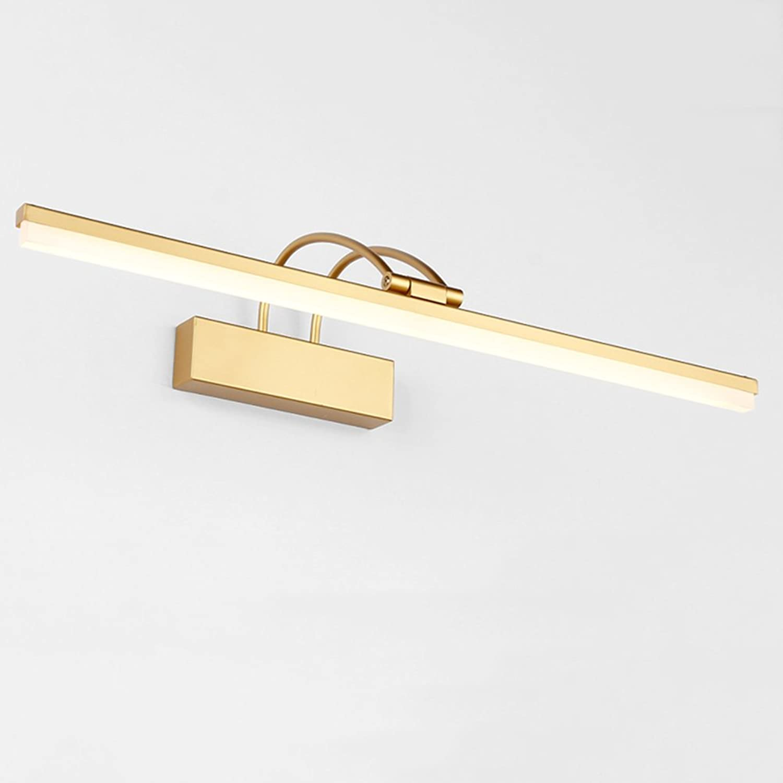 YIXINY Spiegellampen Spiegelleuchten BD-011 Spiegelleuchte Alloy + Acryl 9-16W LED EMC Fahrer Weilicht kann Badezimmer Spiegelschrank Licht Golden drehen