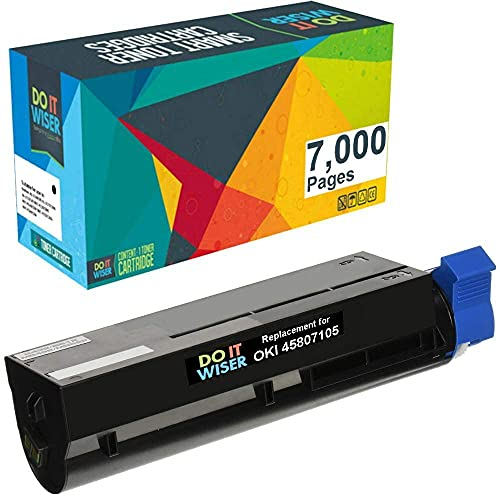 Do it Wiser Compatible Toner Cartridge Replacement for Oki B412 B432 B512 MB472 MB492 MB562-45807105 - 7,000 Pages High Yield