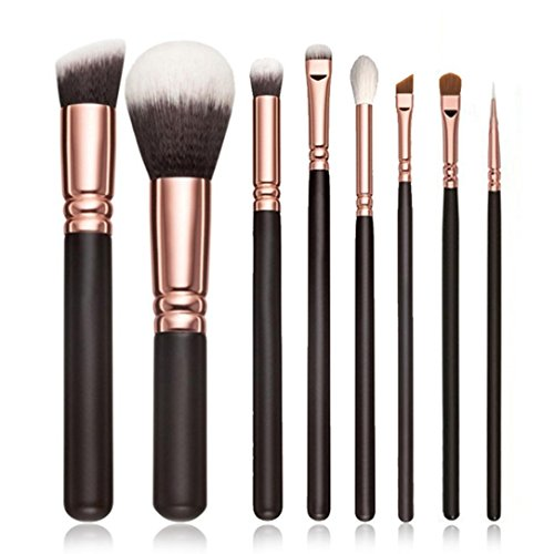 OVERMAL 8Pcs CosméTiques Maquillage Brosse Blusher Eye Shadow Brushes Set Kit
