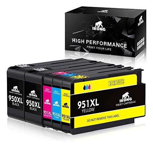 IKONG 950 XL 951 XL Ersatz für HP 950XL 951XL Druckerpatrone, Kompatibel mit HP Officejet Pro 8600 8610 8620 8630 8640 8100 8615 8625 8660 251dw 276dw (2 Schwarz, 1 Blau, 1 Rot, 1 Gelb)