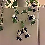 VRTUR 1 Pc Mignon Doux en Peluche Panda Aimant De Réfrigérateur Réfrigérateur Autocollant Cadeau Souvenir Décor (Random)