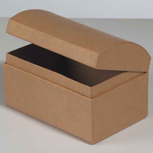 efco Schatztruhe Pappe / Karton zum Basteln und Selbstgestalten, 12x8x7,5cm