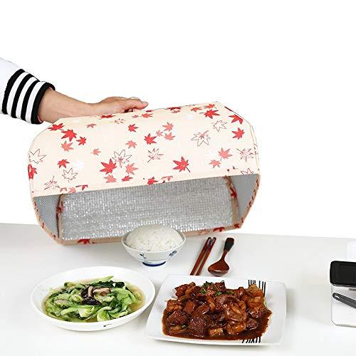 JU FU Copertura alimentare Coprire gli alimenti, l'isolamento della copertura pasto foglio di alluminio pellicola isolante barbecue osso cibo zuppa antipolvere copertura insetto, pieghevole e riutiliz