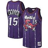 LAMBO Herren NBA JerseyToronto Raptors # 15 Vince Carter Swingman Edition Trikot, Sportbekleidung, ärmelloses Unisex-T-Shirt, Mesh 2019 (Purple Vintage,XL)