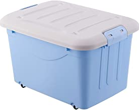 Laundry Basket Large Storage Bins Organizer with Handle, Collapsible Cube Basket Container Box for Closet (Color : Blue, S...