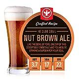 BrewDemon 2 Gal. Ye Olde Devil Nut Brown Ale Beer Recipe Kit - Makes a Wicked-Good 3.7% ABV Batch of Craft Brewed Beer