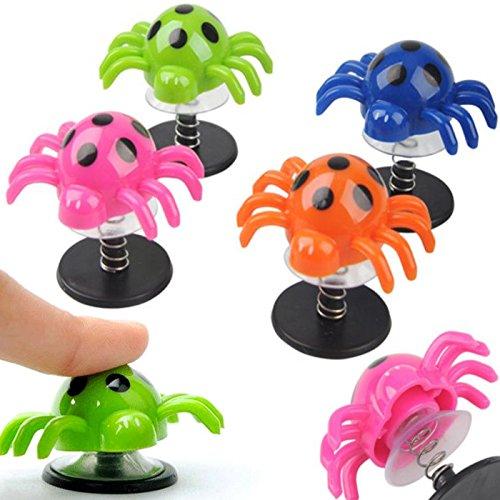 German Trendseller® - 12 x araignées sauteuses┃Petit Cadeau ┃l'anniversaire d'enfant┃des Ressorts en Spirale┃Attrape