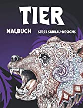 Tier - Malbuch - Stressabbau-Designs 🐼 🐫 🐵 🐘 🐒 🐨 🐦 (German Edition)