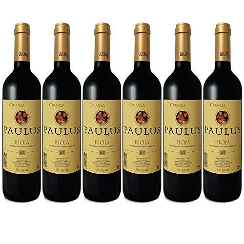 Paulus Vino Tinto Crianza - D.O.C Rioja Botellas 6 x 750 ml - Total: 4500 ml