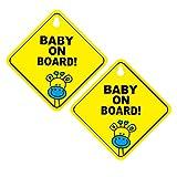 STOBOK 2pcs Baby on Board segni Adesivi Ventosa Adesivi Cervi Decalcomania per la Maggior ...