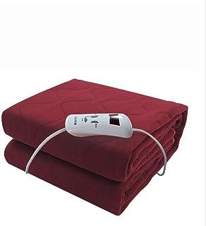 NADAENDR Mantas eléctricas Single Control Coral Fleece Almohadillas calefactoras para el hogar Manta calefactada con Calentamiento rápido 180x150Cm,Rojo