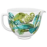 KitchenAid Accs Portable Appliance Stand Mixer Bowl, 5 quart, Tropical Floral Ceramic