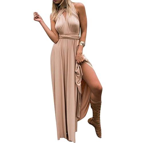 Lover-Beauty Kleider Damen V-Ausschnitt Rückenfrei Neckholder Abendkleider  Elegant Cocktailkleid Multi-Way 8c428e9c42