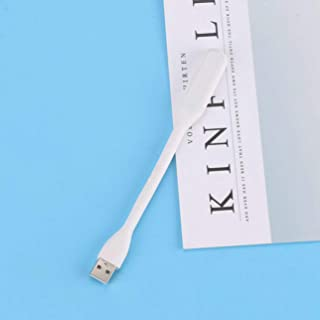 Creative USB Fan Flexible Portable Mini Fan and USB Led Light Lamp for Power Bank Notebook Computer Summer Gadget - White