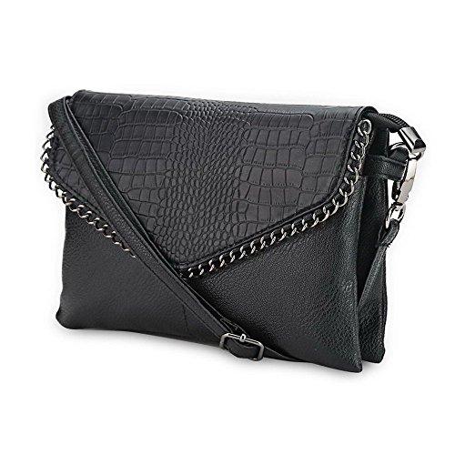 Jecxep Leather Messenger molle dell'unità di elaborazione delle donne Small Lady Fashion Borsello