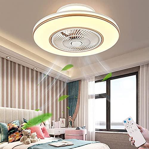 Ventilador De Techo Con Iluminación LED Regulables Con Control Remoto Ventilador Lámpara De Techo Ventilador De 3 Velocidades De Viento Luces De Techo Para Comedor Sala De Estar Dormitorio (Gold)