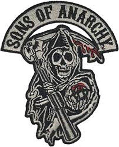 Sons of Anarchy Skull Biker Jacke bestickt Patch Bügelbild/Aufnäher Patch Bestickt