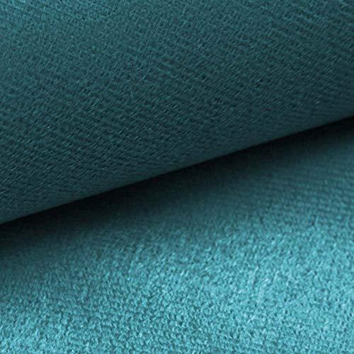 NOVELY® ARTENA Möbelstoff | Velours | samtig weich | Polsterstoff | Bezugsstoff | PFLEGELEICHT | ANSCHMIEGSAM (12 Türkis Petrol Blau)