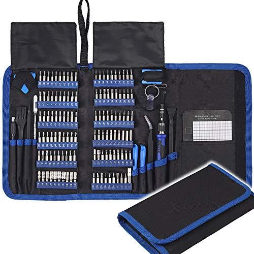 COLFULINE Schraubendreher-Set, 140 in 1 Präzisions Schraubendreher Reparaturwerkzeug Kit, Magnetic Professional Abnehmbares Werkzeug für iPhone X, 8, 7/Handy/Computer/Tablet/ Spielekonsole/Elektronik