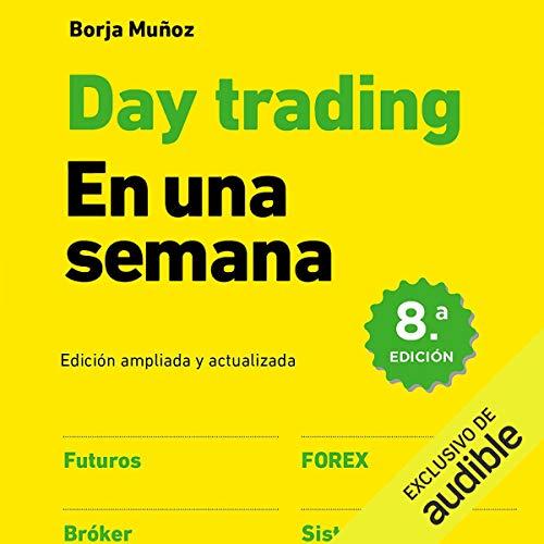 Diseño de la portada del título Day trading en una semana
