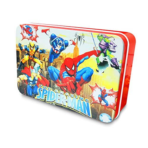 Spiderman Puzzles 100 Pieces for Kids Ages 4-8 Playing Learning Educational Toys Boys Girls with Mental Box