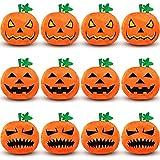 12 Juguetes de Felpa de Calabaza de Peluche Halloween Muñeco de Peluche de Calabaza Pequeño Muñeco de Calabaza de Halloween Suave con Expresiones Espeluznantes para Halloween, 3,14 Pulgadas