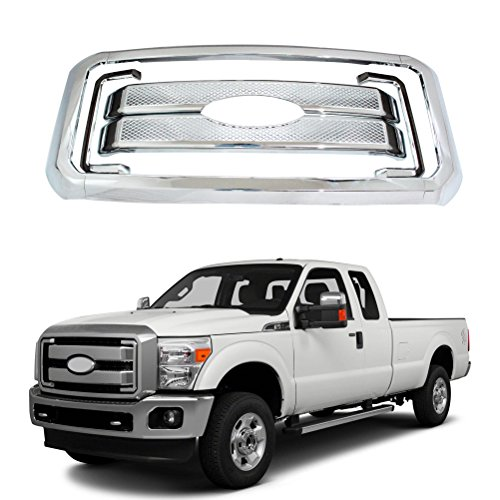 NINTE Grill Covers for Ford F-250 F-350 F-450 Super Duty - ABS Chrome Front...
