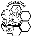 SUPERSTICKI Beekeeper Honey Bees - [6 inch/15 cm Tall] - Aufkleber...
