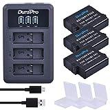 DuraPro - Batería para GoPro Hero 7 Hero 6/5 (1600 mAh, incluye cargador USB de 3 ranuras, compatible con GoPro Hero5 All Firmwares v02.00, v02.01)