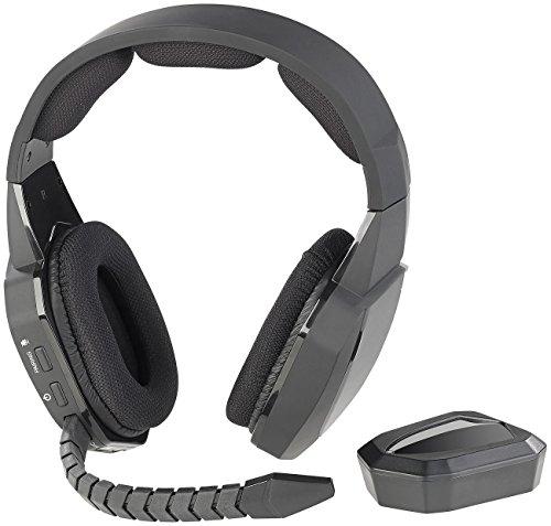 auvisio Headset kabellos: Digitales Gaming-Funk-Headset mit TOSLINK & 12-Stunden-Akku, 2,4 GHz (Wireless Headset)