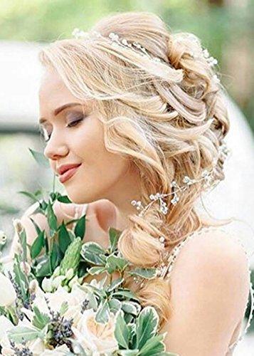 Handmadejewelrylady 39.4IN Bruiloft Bruids Crystal Strass Hoofdband Haar Wijnstok Hoofdstuk Vrouwen Avond Party Haaraccessoires