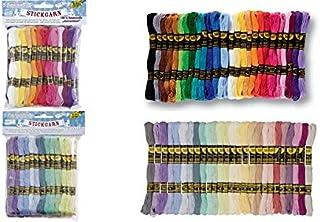 folia Stickgarn ´Pastell´, 52 Docken à 8 m, farbig sortiert, Sie erhalten 1 Packung, Packungsinhalt: 52 Stück