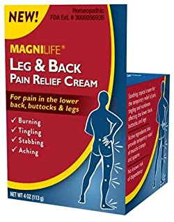 MagniLife Leg & Back Pain Relief Cream Relieves Burning, Tingling, Shooting, Stabbing Pains & Sciatica Symptoms - Fast-Act...