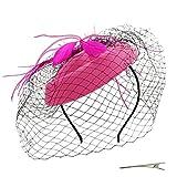 Umeepar Pillbox Tocado para mujer, boda, derby, sombrero de