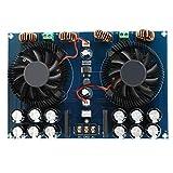 High Power Amplifier Board 2 x 420W Dual Channel TDA8954TH Digital Audio Power Amplifier Board Subwoofer Stereo Audio Amp Board with Cooling Fan
