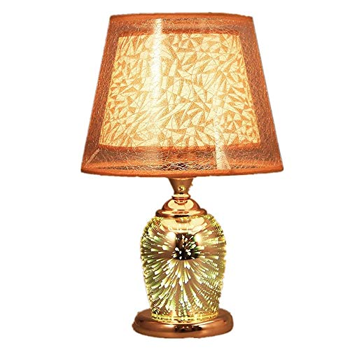 Yuxahiugtd Bedside Table Lamp Creative 3D Sparkler Modern Fashion Warm Living Room Study Best Gifts for Men Women Teens Children Kids Night Light